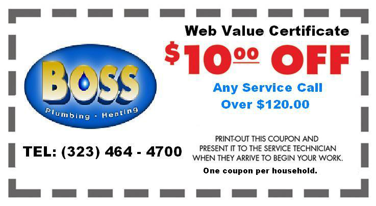Coupon Boss Plumbing Los Angeles